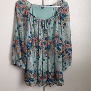 Lined beautiful top!